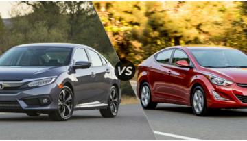 New Honda Civic vs Hyundai Elantra: Spec Comparison